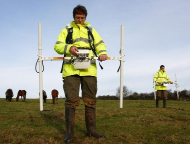 Geophysical survey: Image courtesy of Wessex Archaeology
