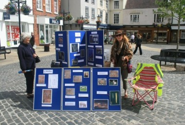Frilford excavation findings stall in Oxford: Image courtesy of Megan Price