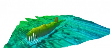 Submarine wreck mapping: Image courtesy of Wessex Archaeology